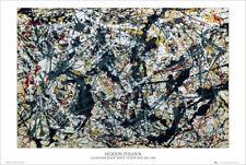 SILVER OVER BLACK - JACKSON POLLOCK ART POSTER 24x36 - 52914