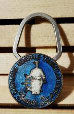 Porte clé médaille émaillée ♦ Compagnie générale Transatlantique ♦ French Line