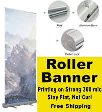 Roller Up Banner Pull Up Pop up 85x200cm with Full colour print exhibition stand