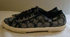 Coach Black Signature Logo Sneakers Athletic Tennis Shoes Size 7.5 B