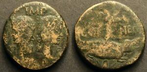 Augustus and Agrippa AE Dupondius
