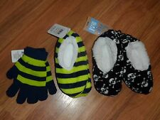 boys slippers & gloves ~ size 5T - 4 - 5 - 6