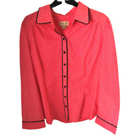 BNWT Lindy Bop Pink Diamond Smart Cotton Button Shirt Work Plus Size 20