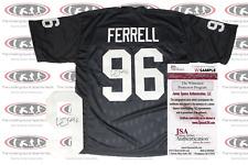 Clelin Ferrell Signed Oakland Custom Pro Style Jersey JSA Witnessed