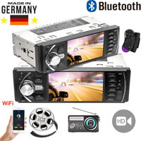 1DIN AUTORADIO MIT BILDSCHIRM DISPLAY VIDEO MONITOR BLUETOOTH FREISPRECH USB SD