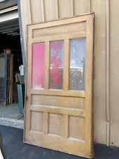 Cm766 Antique Oversize Pocket Door With Glass 54 X 96 X 2.5