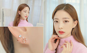Korea Fashion Rose Earrings / Ear Cuffs