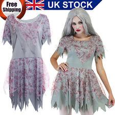 The Walking Dead Zombie Bloody Fancy Dress Grey Halloween Costume Outfit