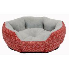 Pet Dog Bed Cushion Cat Soft Warm Fleece House Mat Kennel Sleep Play S/M 2 Color