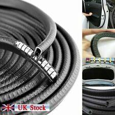 5M Car Door Seal Strip Bumper Edge Guard Protector Black Roll Moulding Trim_h