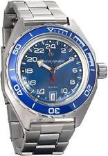 Vostok Komandirskie 650547 Russian Military Watch Automatic 24 Hours Blue