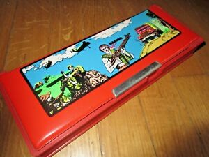 EXTREMELY  RARE GREEK - RAMBO - PENCIL DOUBLE CASE NEW MINT FROM 80s