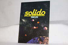 Solido 1980/81 Factory Catalog of Models