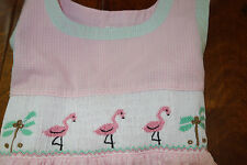 Royal Child Pink Gingham Smocked Flamingo Dress 6