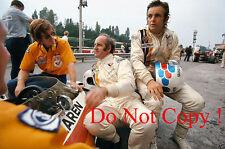REVSON & HULME & Caldwell McLaren f1 ritratto italiano GRAND PRIX 1972 Fotografia