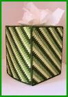 GREEN NURSERY HANDMADE PLASTIC CANVAS TISSUE BOX COVER TOPPER