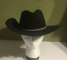 STETSON Buffalo Collection Western / Cowboy Hat XXX Buffalo Felt Black Sz. 7 1/8