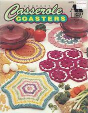 New listing Casserole Coasters ~ 8 Crochet Designs Annie's Attic Patterns #87C73 ~ Oop 1993