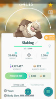 Pokemon Trade GO - Slaking 4100+ CP with Body Slam (Legacy) for PVP Master