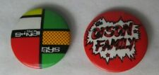 The Stingrays Orson Family 2 X Vintage 1980s Pin Button Badges Punk Psychobilly