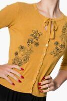 Banned Delilah Floral 50s Cardigan Vintage Style Bordeaux