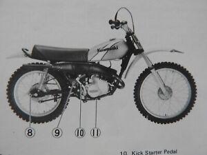 1975 KAWASAKI 125 KD125 DIRT BIKE MOTORCYCLE OWNERS OPERATORS MANUAL VERY GOOD