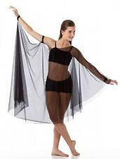 Soar Dance Costume Crop Top w/ Sheer Drape and Shorts Child Medium New