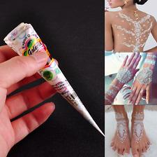 New Fashion White Body Art Paint Natural Herbal Henna Cones Temporary Tattoo kit