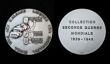L'Alsace Libérée par 3 Victoires. Collection 2°GM. Bronze argenté+boite