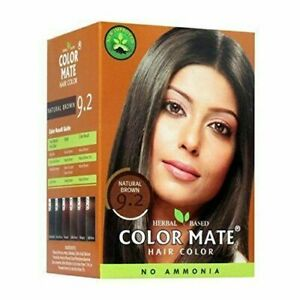5 X COLOR MATE (Natural BROWN 9.2) Herbal based Hair Color - 15gm Each 75gm