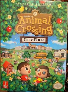Animal Crossing: City Folk: Prima Official Game Guide NEW Factory Sealed.