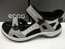 60a8e743a73c ECCO Titanium Grey Leather Sport Yucatan Performance Sandal Shoe 37eu 6