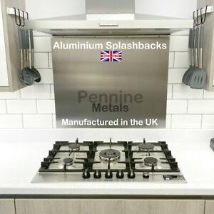 Satin Anodised ALUMINIUM Cooker SPLASHBACK Kitchen Splash Back Quality UK Made