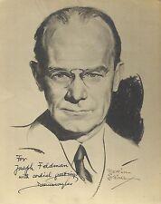 DEEMS TAYLOR US Composer & Critic Original HANDSIGNED Sketch Photo