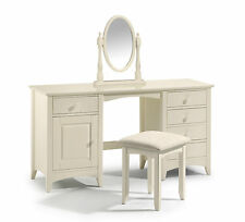 Cameo Twin Pedestal Dressing Table cream lacquered finish shabby chic