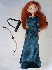 Disney Pixar BRAVE Princess MERIDA DOLL With Green Dress Bow Accessories Barbie