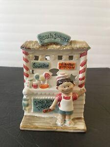 "Yankee Candle 6.5"" Beach Sweets Salt Water Taffy Stand Wax Tart Warmer HTF"