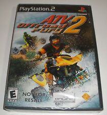Ps2 Atv offroad fury 2 video game Factory Sealed not for resale version