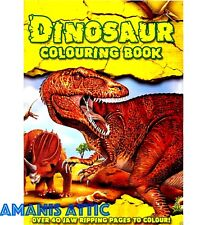 Large A4 Kids Dinosaur Colouring Book Children Fun Learning Activity 40 Pages