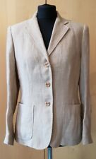 RALPH LAUREN Ladies 100% Linen Blazer / Jacket - Size UK 8 leather elbow patches