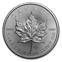 2017 1 oz Canadian Silver Maple Leaf $5 Coin 1 Troy Ounce of 9999 Fine Silver