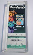 2003 NCAA Women's Final Four Championship Ticket  4/8/2003 Slabbed  Atlanta