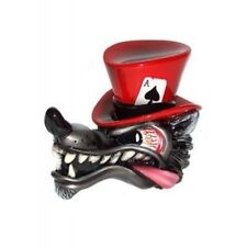 VAN CHASE SHIFT KNOB GEAR SHIFT BIG BAD WOLF LONE WOLF TOP HAT HAND CRAFTED RED