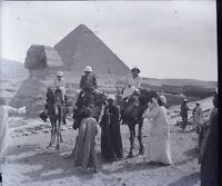 EGYPTE Le Caire Pyramides Sphinx Gizeh Archéologie NEGATIF Photo Plaque Verre PL