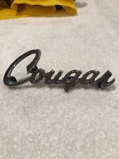 Mercury Cougar Script Car Emblem Nameplate Badge Logo Vintage Original