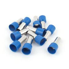 10 Pcs Wire Copper Crimp Connector Terminal Insulated Ferrule Blue E25-16 4AWG