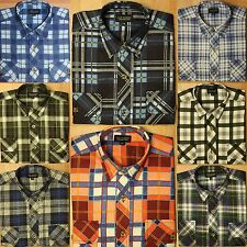 Men's Check Flannel Casual Shirts & Tops