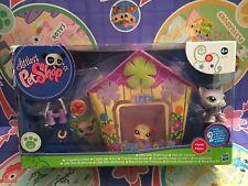 Littlest Pet Shop Little Bitty Birdhouse set  Bird 2093 Cat 2094 ~please read ~