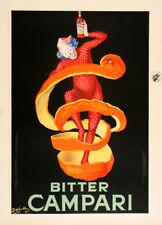 Original Vintage Poster Bitter Campari by Leonetto Cappiello 1921 Small Italian