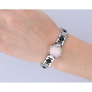 EHINGER SCHWARZ Armband Edelstahl 9 Karneolkugeln Länge 18cm